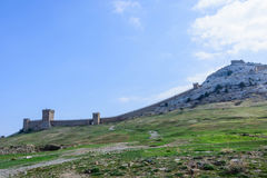 Genoese fortress.Sudak. Crimea. Genoese fortress in the city of Sudak in the Crimea stock images