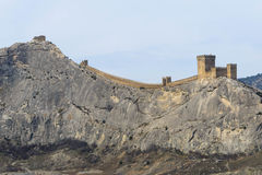 Genoese fortress.Sudak. Crimea. Genoese fortress in the city of Sudak in the Crimea stock photos