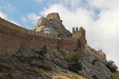 Genoese fortress, Sudak, Crimea Royalty Free Stock Image
