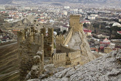 Genoese fortress in Sudak, Crimea Stock Image
