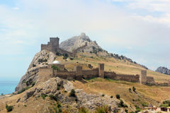 Genoese fortress in Sudak in the Crimea. Royalty Free Stock Photos