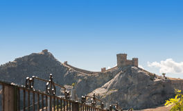 Genoese fortress in Sudak Crimea. Ukraine. It is very famous place to visit Royalty Free Stock Image