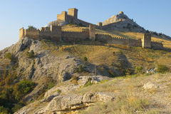 Genoese Fortress in Sudak, Crimea Stock Photography