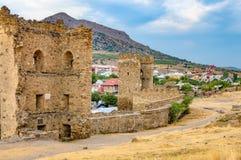 Genoese fortress in Sudak, Crimea Stock Image