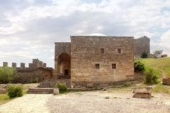 Genoese fortress. Temple with an arcade Royalty Free Stock Photo