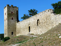 Genoese fortress in Theodosia Stock Photography