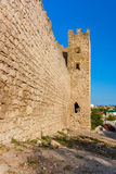 Genoese fortress in the town of Feodosia (tower Clement). Crimea Royalty Free Stock Photos