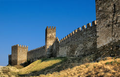 Genoese fortress wall Stock Photos