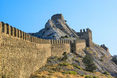 Genoese fortress wall Stock Image