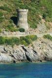 Genoese Kontrollturm in Korsika Stockfotografie