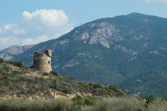 Genoese Kontrollturm in Korsika Lizenzfreies Stockfoto