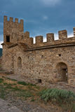Genoese medieval fortress Royalty Free Stock Photo