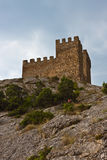 Genoese medieval fortress Stock Images