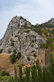 Genoese mittelalterliche Festung Lizenzfreie Stockbilder