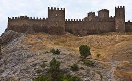 Genoese mittelalterliche Festung Lizenzfreie Stockfotos