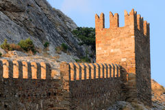 Genoese Sudak Castle Royalty Free Stock Photos