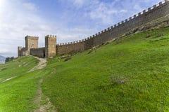 genoese sudak för crimea fästning arkivfoto