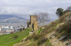genoese sudak för crimea fästning arkivbild