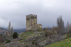 genoese sudak för crimea fästning royaltyfria foton