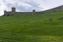 genoese sudak för crimea fästning fotografering för bildbyråer