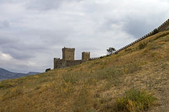 genoese sudak för crimea fästning royaltyfri fotografi