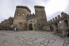 genoese sudak för crimea fästning ingångsfästning till royaltyfria bilder
