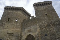 genoese sudak för crimea fästning Porttorn Arkivbilder