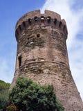 Genoese torn i Cap Corse Arkivbild