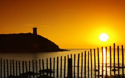 Genoese tower in corsica Royalty Free Stock Photos