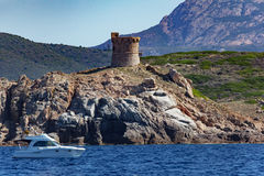Genoese tower in Corsica Royalty Free Stock Photo