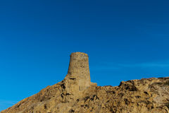 Genoese tower in Ile Rousse. royalty free stock images