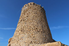 Genoese tower in Ile Rousse. Stock Photo