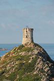 Genoese tower at the Sanguinaires Islands, in Corsica (France) Royalty Free Stock Photos