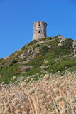 Genoese tower at the Sanguinaires Islands, in Corsica (France) Royalty Free Stock Photography