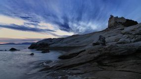 Genoese Turm bei Lumio, Korsika Lizenzfreies Stockfoto