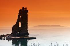 Genoese Turm Santa Marias in Korsika-Insel lizenzfreies stockfoto