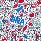 Genom无缝的样式 皇族释放例证