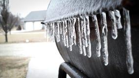 Is, genom att frysa regn Royaltyfri Bild
