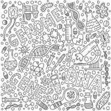 Genom klotterillustration stock illustrationer