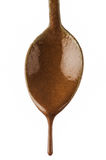 genomblöt choklad Arkivfoto