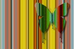 Genomblöt fjäril för färg Arkivbild