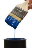genomblöt målarfärg Arkivfoto