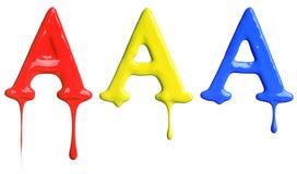 Genomblött alfabet för målarfärg Royaltyfria Bilder
