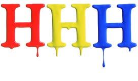 Genomblött alfabet för målarfärg Royaltyfri Fotografi