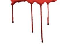genomblött blod Arkivfoton