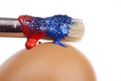 genomblöt målarfärg för borste Royaltyfria Foton
