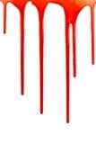 Genomblött blod på vit Fotografering för Bildbyråer