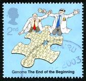 Genome UK Postage Stamp Stock Photo