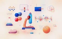 Genomic Analysis Textured Illustration royalty free illustration