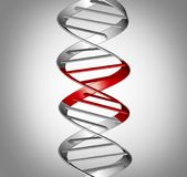 Genomic Therapy Science. Genomic therapy and gene therapeutic treatment or genomic editing  or genetic manipulation,medical and scientific symbol as a DNA strand Stock Photos